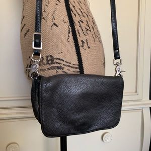 Libaire Bags - Libaire Black Pebbled Leather Crossbody/Clutch Bag
